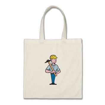 Engineer Architect T-Square Cartoon Tote Bag