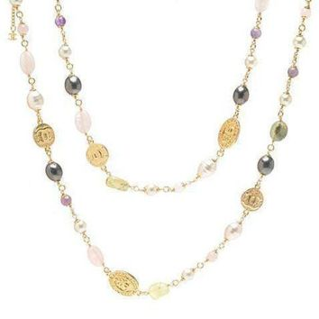 DCCKNQ2 Chanel Woman Fashion Logo Pearls Necklace For Best Gift-2