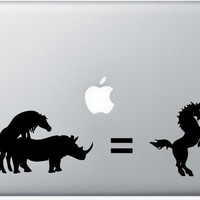 Unicorn Rhino DECAL macbook PC computer Gadget Art by EyvalDecal