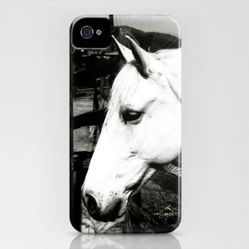 white horse iPhone Case by Marianna Tankelevich | Society6