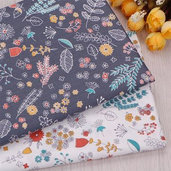 2018 New 2pic/lot 40x50cm Cotton Fabric Patchwork Tissue Sewing Quilting Bedding Textile Tablecloths Decorative Fabric Cloth M64