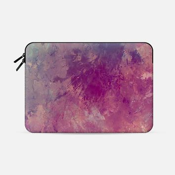 """Painting pink and gray Macbook Pro Retina 15"""" sleeve by VanessaGF 