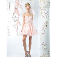 Blush Pink Sexy Strapless Sweetheart Short Dress 2016 Prom Dresses