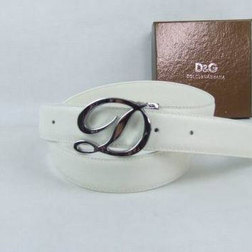 DG Men and Woman  Fashion Smooth Buckle Leather Belt