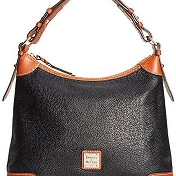 Dooney & Bourke Pebble Grain Leather Hobo Black