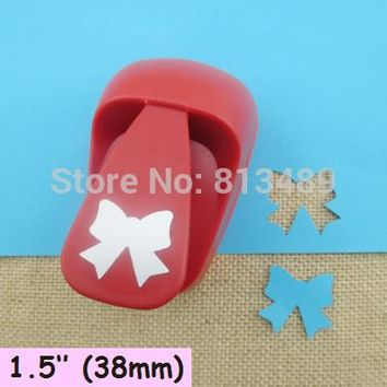 free shipping 38mm Bow paper cutter diy craft punch hole punch shapes perfuradores de papel decorative arts and crafts S3025