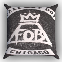 Fall Out Boy Logo Zippered Pillows  Covers 16x16, 18x18, 20x20 Inches