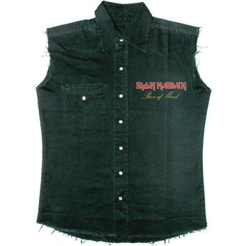 Iron Maiden Men's  Piece Of Mind Work Shirt Black