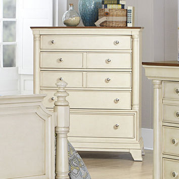 Homelegance Inglewood II 5 Drawer Chest in Antique White