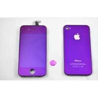 Generic Iphone 4 Color Conversion Kit Full Assembly + Tools with Touch Screen Digitzer Display, Front Lcd, Back Housing, Home Button and Installation Tools for Apple Iphone 4 (At&t) (IPHONE 4 (Att only), Full Purple (Mirror Kit))