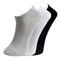 2016 Hot Sale Fashion Quality New Women's socks Classic White Gray Black Spring Summer Winter Style Cool Mesh Design Ankle Sock