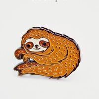 Sloth Pin - Enamel Sloth Enamel Pin by boygirlparty