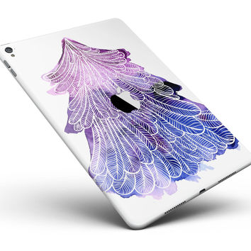 "Stenciled Watercolor Evergreen Tree Full Body Skin for the iPad Pro (12.9"" or 9.7"" available)"