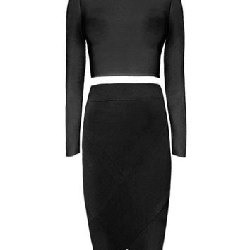 Hayley Long Sleeve Two Piece Dress