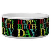 Happy Birthday Pet Bowl