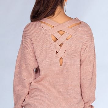 Cozy Nights Sweater - Mauve