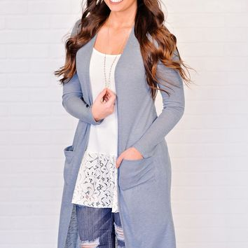 * Juliette Duster Cardigan : Blue