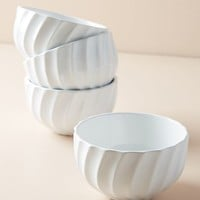 Swirled Cereal Bowls, Set of 4