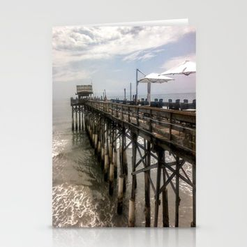 Cocoa Beach Pier  Stationery Cards by Annette Forlenza