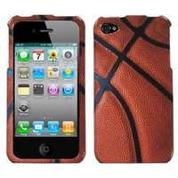 MYBAT IPHONE4HPCIM907NP Slim and Stylish Protective Case for iPhone 4 - 1 Pack - Retail Packaging - Basketball-Sports