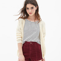 Black And White Stripes Short Sleeves Loose Shirt