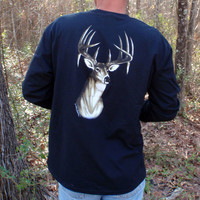 Hunting Shirts for men big buck head deer hunting long sleeve clothing
