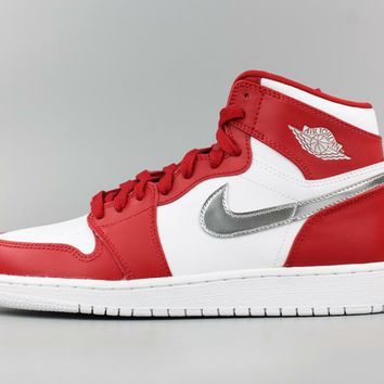 [Free Shipping ]Nike Air Jordan 1 High Gym Red  705300-602 Basketball Sneaker