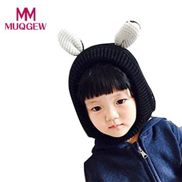 Cute Baby Toddler Kids Boy Girl Animal Ears Hat Knitted Crochet Beanie Children Kid Winter Warm Hats Cap