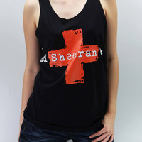 Ed Sheeran Plus Shirts Tank Top TShirt Tee Top Tunic Singlet Unisex - silk screen handmade - Size S M L