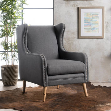 Rosella High Wingback Fabric Club Chair