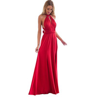 Sexy Bandage Dress Fashion Women Long Dress Party Multiway Bridesmaids Convertible Dress Robe Longue Femme