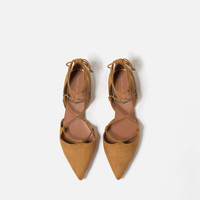 FLAT LACE - UP D'ORSAY SHOES-View all-SHOES-WOMAN | ZARA United Kingdom