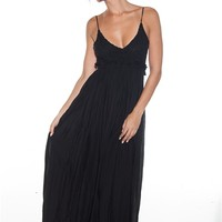 Back in the Groove Open Back Maxi Dress - Black