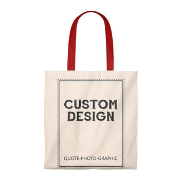 Personalized Tote Bag  Vintage - Custom Shopping bag for women / kids / dog / walkers / book