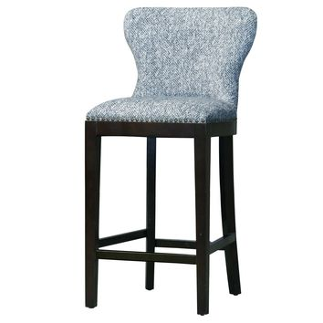 Dorsey Fabric Bar Stool, Quiver Indigo Blue