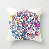 In The Moment Throw Pillow by Micklyn