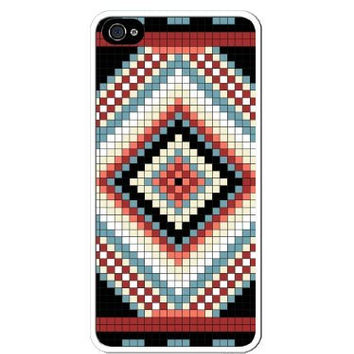 Aztec Mayan Native Logo Pattern Apple Iphone 4 Quality TPU Soft Rubber Case for Iphone 4/4s - AT&T Sprint Verizon - White Case