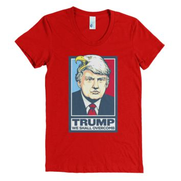 Donald Trump We Shall Overcomb Ladies Shirts