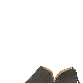 Stands Apart Charcoal Nubuck Ankle Booties