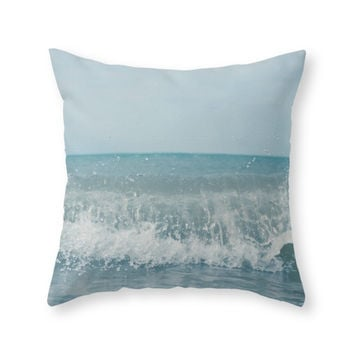 Society6 Wave Throw Pillow