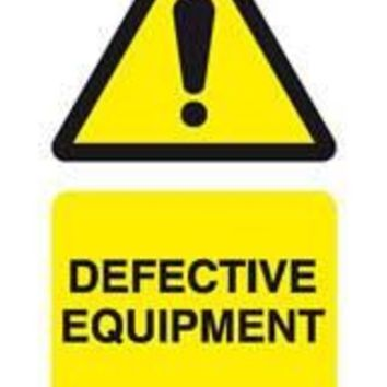 Tie tag, Defective equipment - Pack of 10
