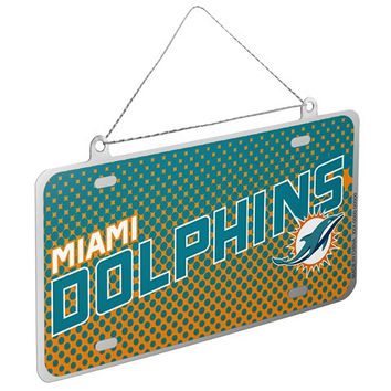 Miami Dolphins Official NFL Metal License Plate Ornament