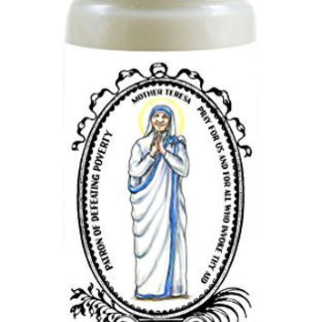 Mother Teresa Patron of Defeating Poverty 8 Ounce Scented Soy Prayer Candle