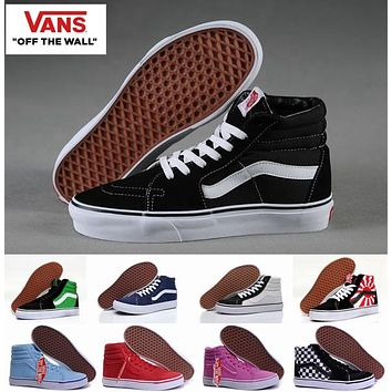High Top Old Skool vans Canvas Shoes Sk8 Hi Classic White Black Brand Women And Mens S