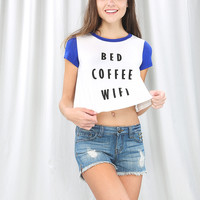 Bed Coffee Wifi Crop Top