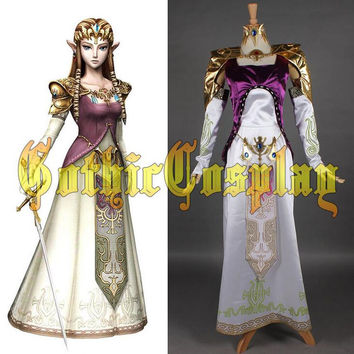 HOT Game Legend Of Zelda Twilight Princess Cosplay Costume Fashion Cartoon Dress And Jacket