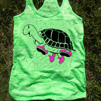 Turtle Workout Tank, Gym Tank, Running Tank, Gym Shirt, Running Shirt, Workout Shirt, workout clothes, running shoes, top
