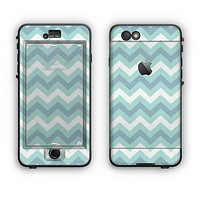 The LightTeal-Colored Chevron Pattern Apple iPhone 6 Plus LifeProof Nuud Case Skin Set