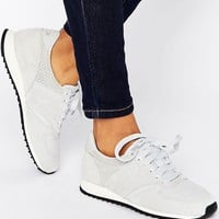 New Balance 420 Perforated Suede Trainers In Pale Grey at asos.com