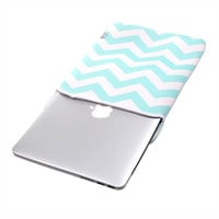 "TopCase Chevron Series Hot Blue Sleeve Bag Cover for All 15"" 15-inch Laptop Notebook / Macbook Pro with or without Retina Display"